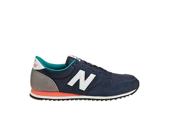 new balance 420 classic navy trainers