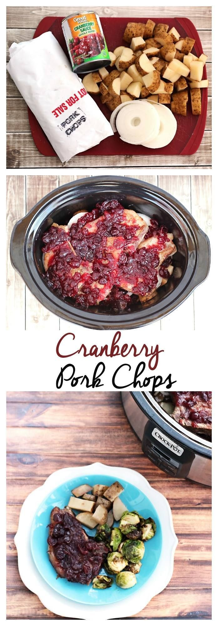 Slow Cooker pork chop recipes can be perfect for entertaining with a few tips and tricks. Use this Crock Pot pork chop recipe with cranberry sauce for a delicious holiday meal with only a few simple ingredients!