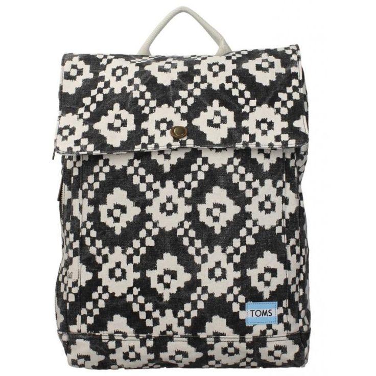 john-andy.com | Toms Black Ikat Geometri Trekker Backpack 10010055