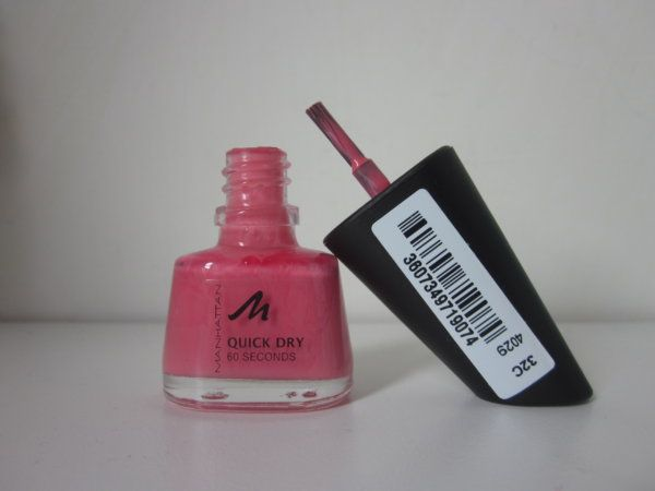 [Recensione] Manhattan - Quick Dry Nail Polish - 32C Rosa Tenue