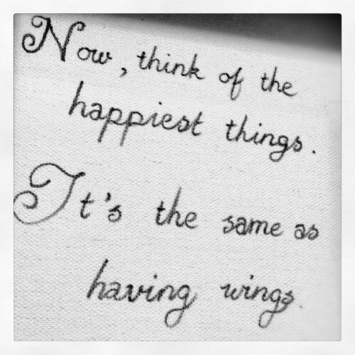 think of the happiest things it's the same as having wings - Google Search