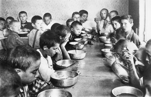 Orphans In Romania Bucharest Romania A Soup Kitchen