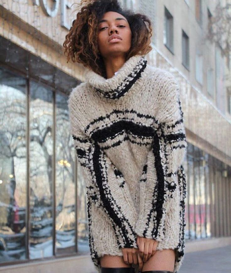 """Perfect cocoon for après-ski! #spencervladimir #barneys #boutiquesauvage #handknit #luxuryknitwear"""