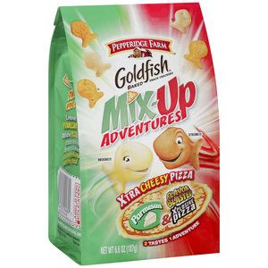 Pepperidge+Farm+Goldfish+Mix-Up+Adventures+Xtra+Cheesy+Pizza+Baked+Snack+Crackers,+6.6+oz