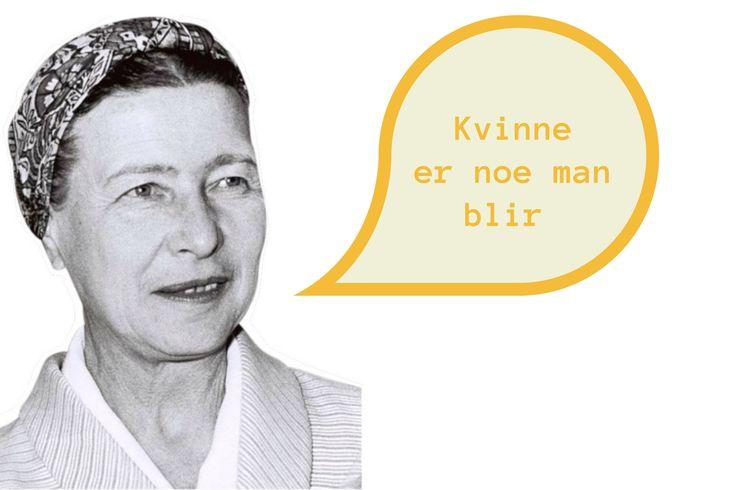 """""""Kvinne er noe man blir,"""" sa Simone de Beauvoir, men hvem var kvinnen bak ordene? Få et historisk lynkursus som gir deg det viktigste om filosofens liv."""