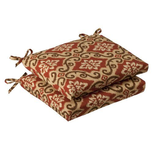 Save $ 16.71 order now Pillow Perfect Indoor/Outdoor Red/Tan Damask Seat Cushion