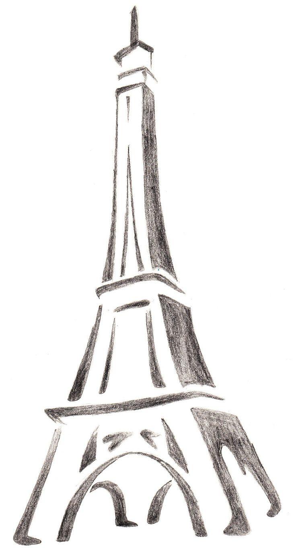 картинки эльфивую башню карандашом поэтапно центр