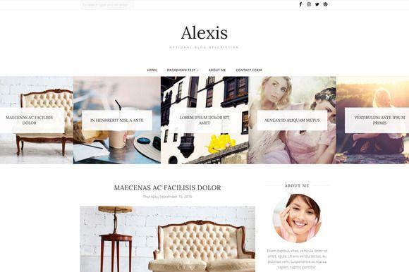 Blogger Template - Alexis  @creativework247