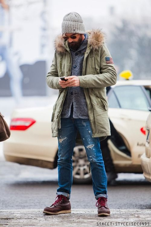 The jeans and shoes go together v well. The shirt and coat just add a bit of character to the outfit