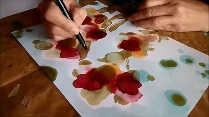art-journal page alcohol ink 1