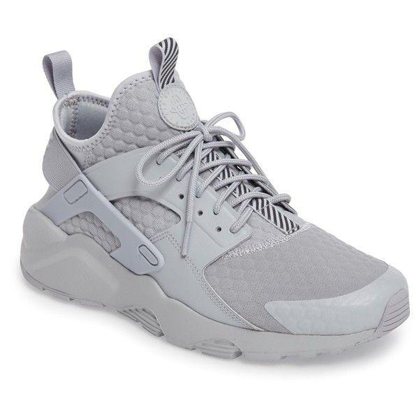 Men's Nike Huarache Run Ultra Se Premium Sneaker ($130) ❤ liked on Polyvore featuring men's fashion, men's shoes, men's sneakers, mens shoes, nike mens sneakers, nike mens shoes, mens sneakers and mens lightweight running shoes