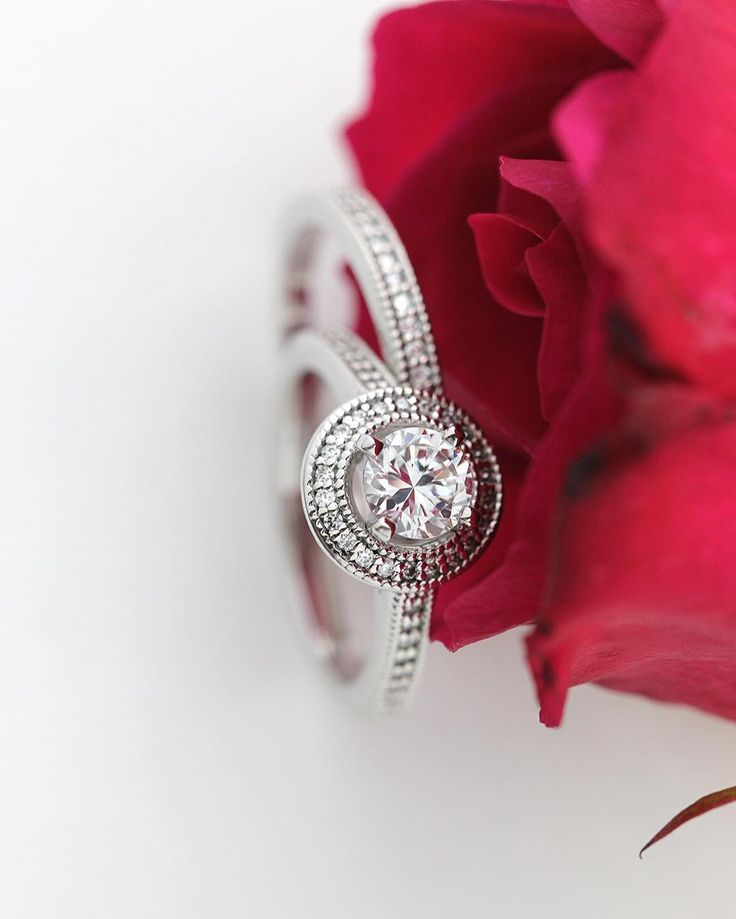 Wear The Forever Wedding Set For A Lifetime This Halo Engagement Ring Is Beautiful