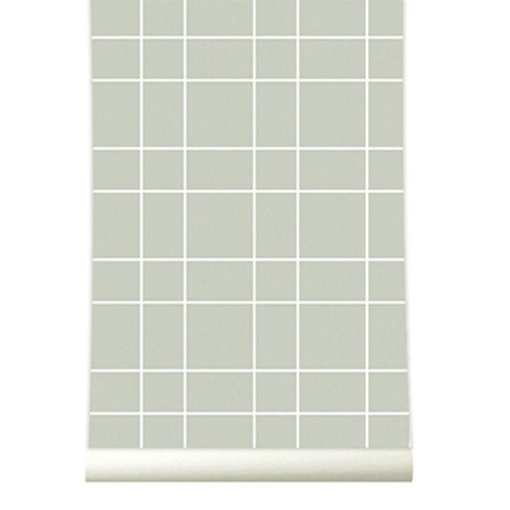 behang wallpaper grid grey behangpapier woonkamer slaapkamer interieur ...