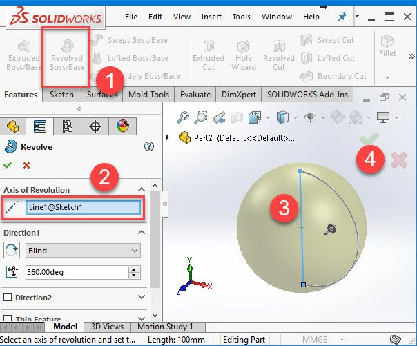 If you are an absolute beginner, Creating a Sphere with Solidworks might look like a hell of a challenge. Today, we are going to show you the simple steps you can take to easily create a sphere in Solidworks.Creating a Sphere in SolidworksLet's take a close look at these three simple commands and see how they can help us on the quest of creating our sphere in Solidworks.Step 1First, Create a New Part.Step 2Click on front plane and then create new sketch.Step 3Now we are going to use the Arc…