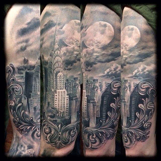 chrysler building tattoo | Chrysler building