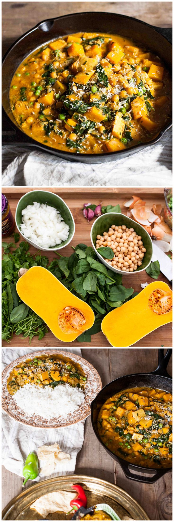 Chickpea and Butternut Squash Curry #vegetarian #MeatlessMonday