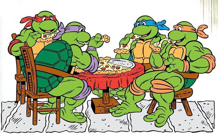 принимают картинки черепашки ниндзя едят пиццу когда-нибудь видели
