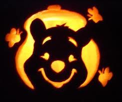 carved Winnie the pooh. For this you'll need a spoon, a knife and a pumpkin.