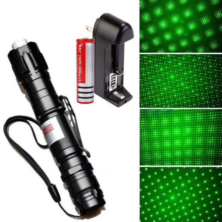 XpertMatic Potente 532nm 30 mw Puntero Láser Verde Pluma Lazer Quema Haz + 18650 Batería + Cargador