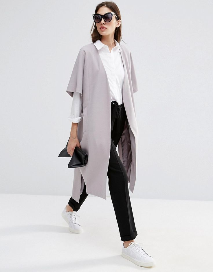 Image 4 of ASOS Duster Coat with Kimono Sleeve