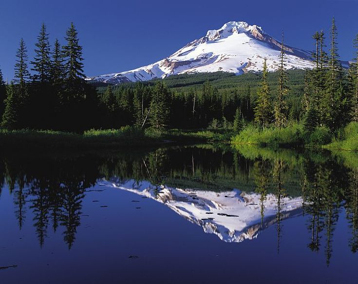 Mount Hood reflected in Mirror Lake, Oregon, USA from Wikipedia.org