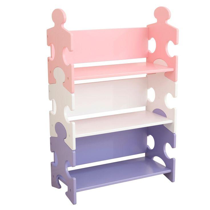 La chambre de votre petite princesse ressemble à un champ de bataille ? Offrez-lui cette bibliothèque enfant aux couleurs pastel qui s'intègrera parfaitement dans sa chambre. Grâce à elle, elle pourra rester organisée et ranger tous ses jouets et livres. Ce meuble est facile à monter et modulable selon les envies. Dimensions : 63 x 30 x 98 cm