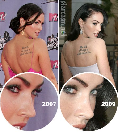 Megan Fox before plastic surgery | Megan Fox plastic surgery before and after photos: nose job, boob job The nose was better before. Not sure about the boobs!