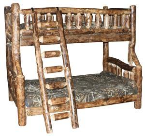 amish log furniture rustic bunk beds