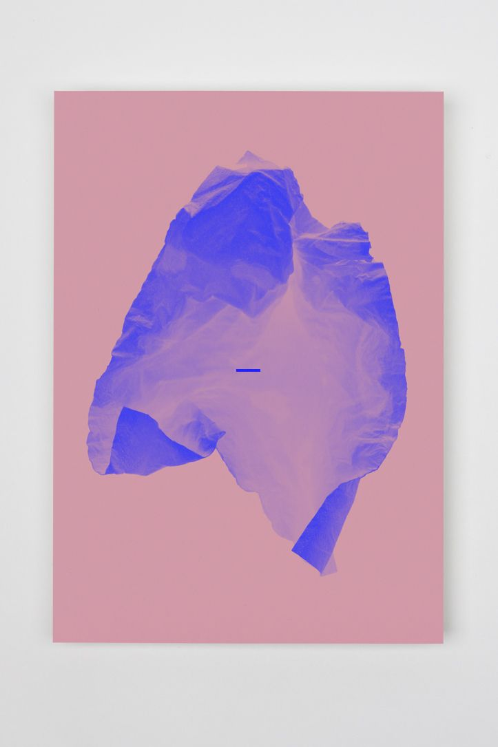 The abstractness of the object and the contrasts of the colors, along with the variation of shades in the blue tone is what drew my attention to this piece. It also lets its viewer decide on their own wether it's a depiction of an iceberg, crumpled paper, or something completely else.