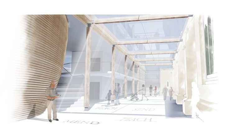 A multi-disciplinary team, including our Bristol architects and planners, Reading project management and landscape design and the graphic design group, have submitted a planning application on behalf of St. Paul's Church in Weston-super-Mare following support from the Diocese. Working closely with the client and consultant team, the new architectural piece presents an exciting new proposal that includes a Café, Training rooms, Resource areas, Offices and a multi-use space.