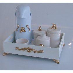 Kit Higiene Luxo Cesta Urso Dourado...