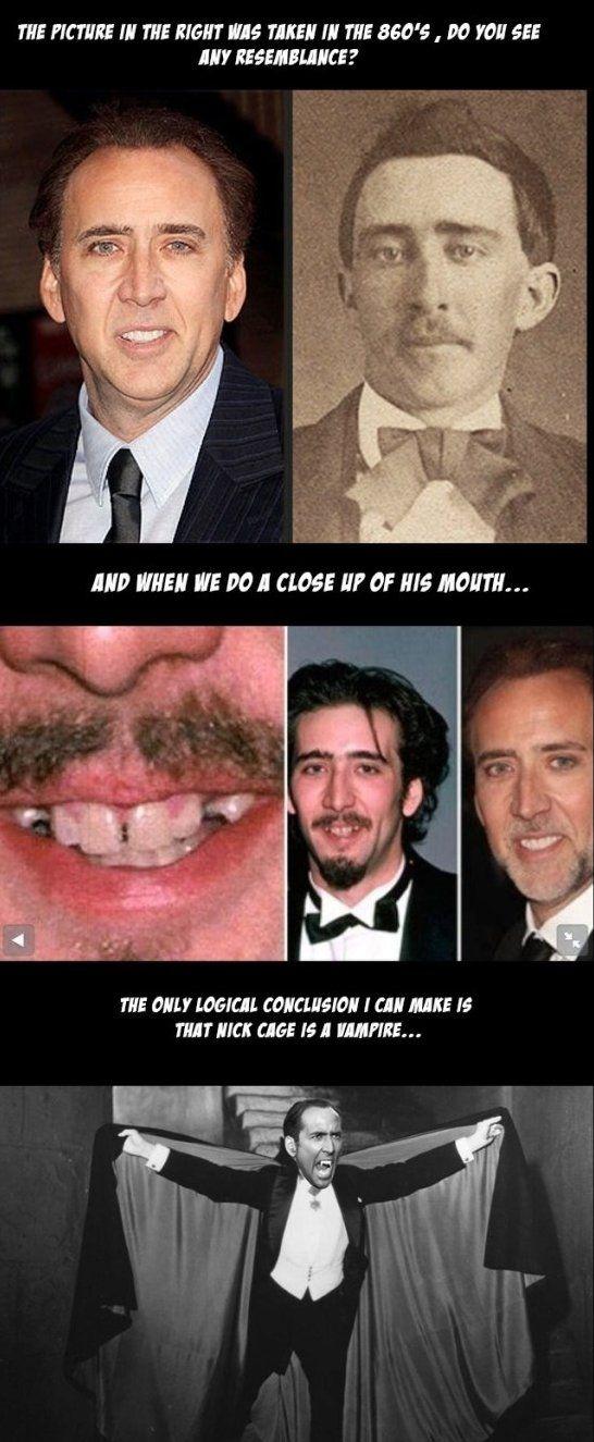 Nicolas cage is a Vampire Jokes - www.meme-lol.com