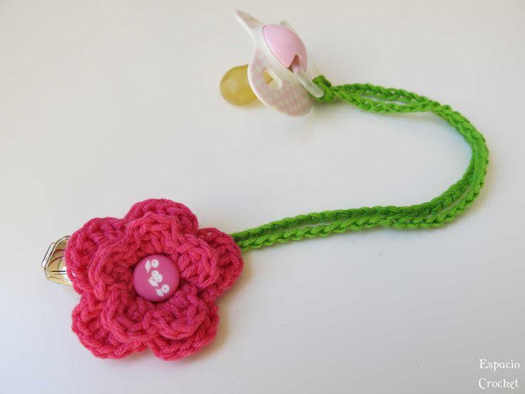 Sujeta chupete | Espacio Crochet