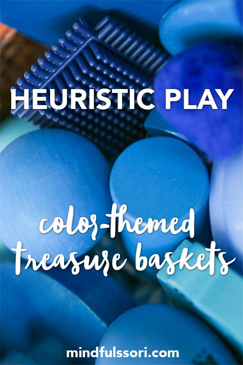 Heuristic Play Color Themed Treasure Baskets