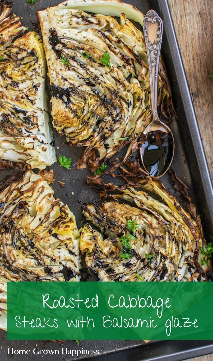 Balsamic Cabbage Steaks