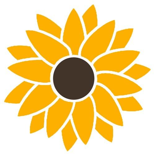 2 color sunflower vinyl decal sticker hippie flower power peace psychedelic flowers you choose 2 colors for car bus truck van window door computer laptop scrapbook macbook atv rv jeep walls available