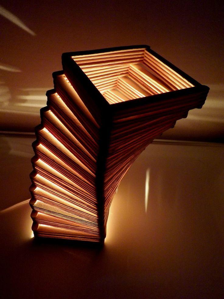 Luminária ladder | ARTE COM PALITO | Elo7