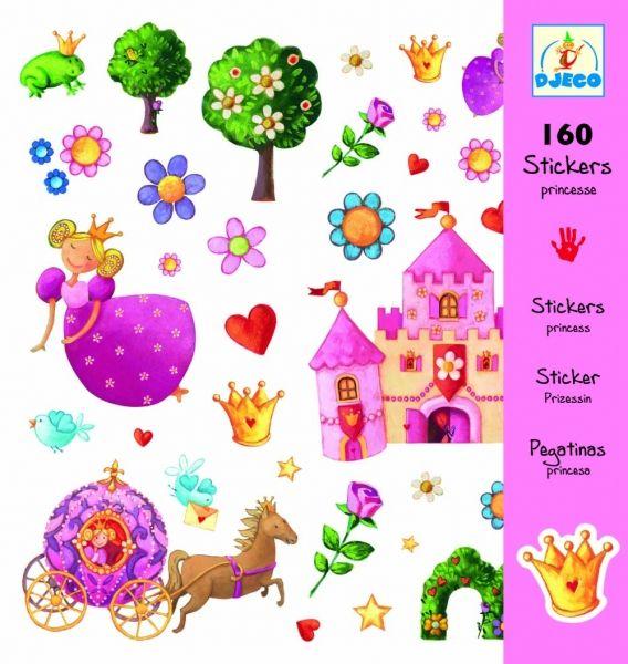 Djeco Σετ 160 Αυτοκόλλητα Μικρή Πριγκίπισσα - Sunnyside