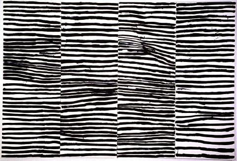 Untitled (Awelye), Australia, 1994, by Emily Kame Kngwarreye.