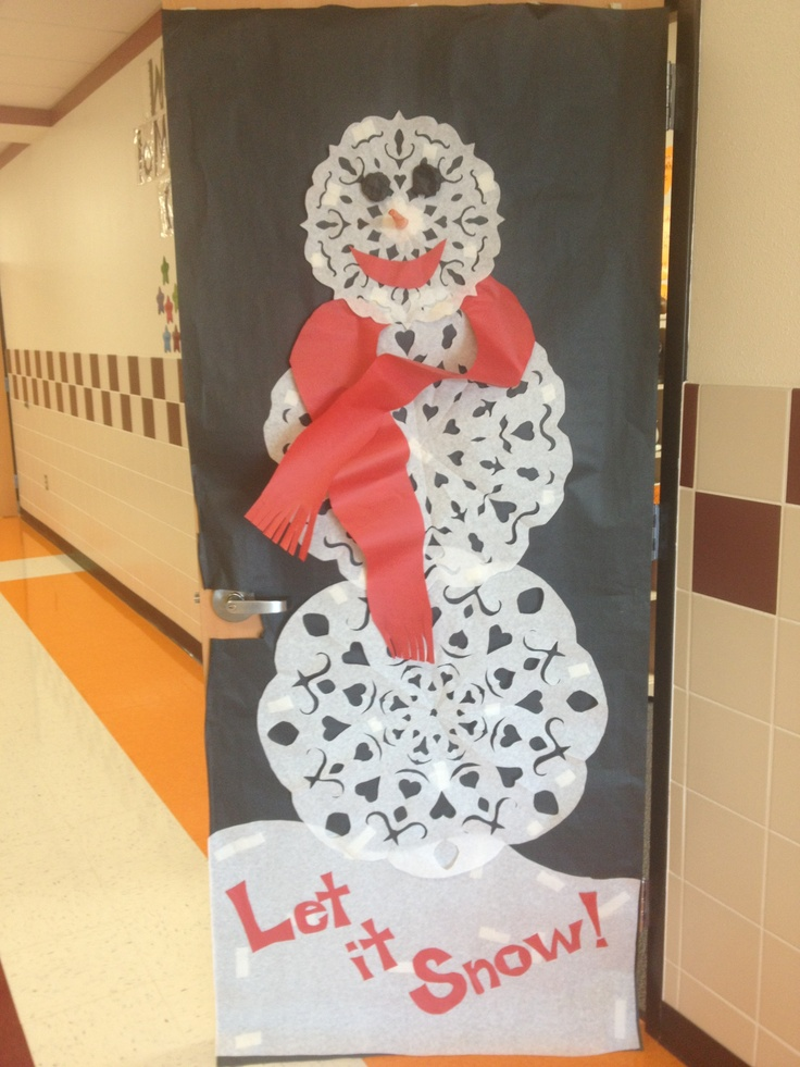 Snowflake Snowman Classroom Door 18 best Door