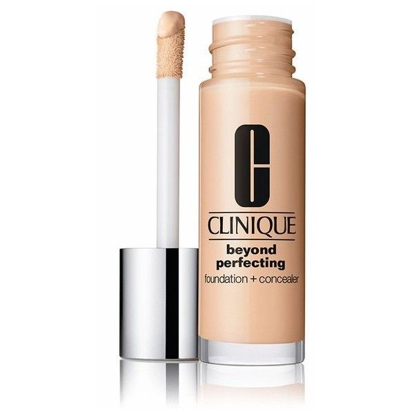 Clinique Beyond Perfecting Foundation + Concealer ($28) ❤ liked on Polyvore featuring beauty products, makeup, face makeup, concealer, beauty, foundation & primer, natural, clinique, oil free concealer and hydrating concealer