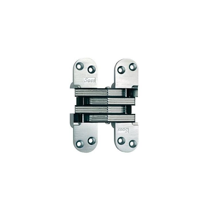 "Soss 220 5-1/2"" High Invisible Hinge for Heavy Duty Satin Chrome Cabinet Hinges Inset Hinges Invisible Hinges"
