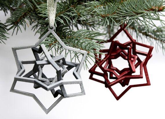 3D impreso moderno Voronoi cinética girocompás Navidad árbol bola estrella presente Home Decor