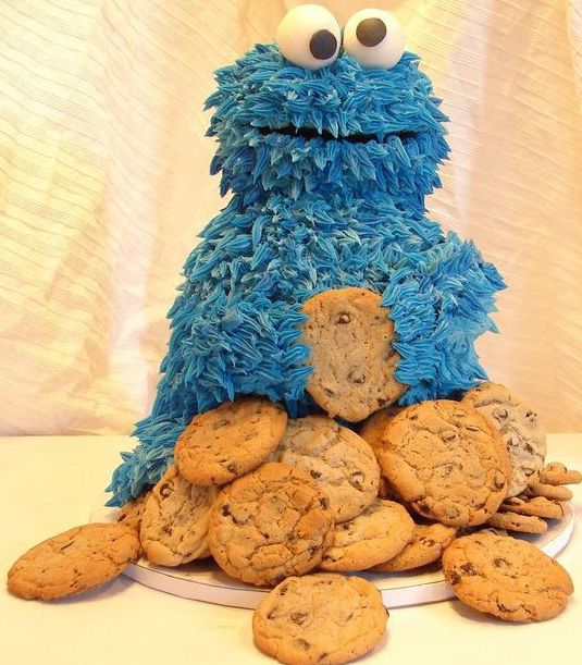Cookie Monster Cake...My two favorite things!