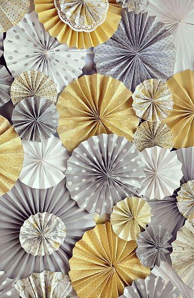Gold & Grey Chevron Styling Ideas | Hip Hip Hooray -- but we know you're silvery g(rrrr)ay!!!