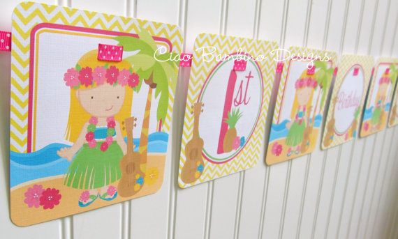 NEW  Luau  Happy Birthday Banner  Choose your by ciaobambino, $16.00