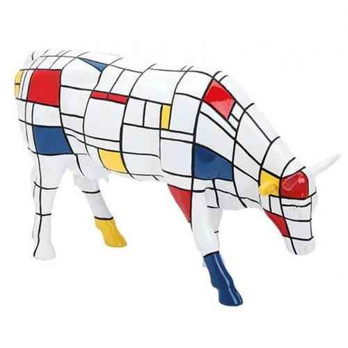 Cow Parade kunstkoe Moondriaan
