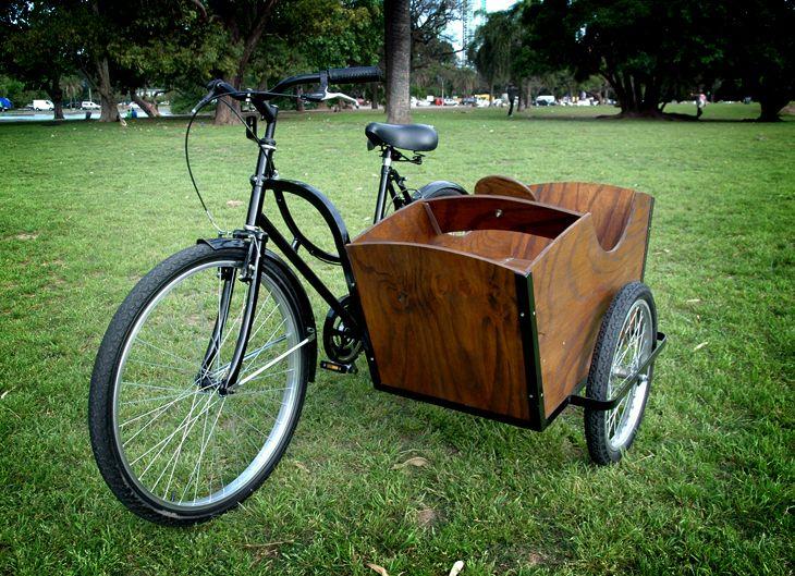 Homemade bicycle sidecar.
