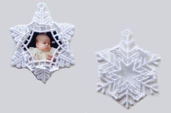 FSL Snowflake Photo Ornament Set, 11 Designs - 5x7