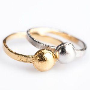 Image of Ringen zilver en zilver geel verguld, trouwringen op maat, goud en…